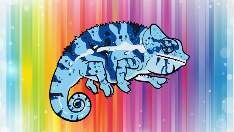 zmiana ubarwienia u kameleonów
